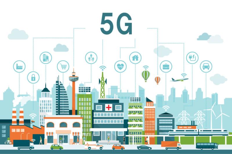 5Gで繋がるスマート社会