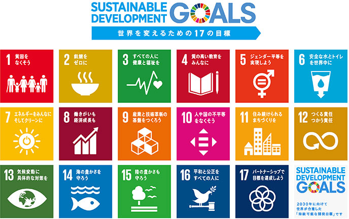 SDGs世界を変えるための17の目標